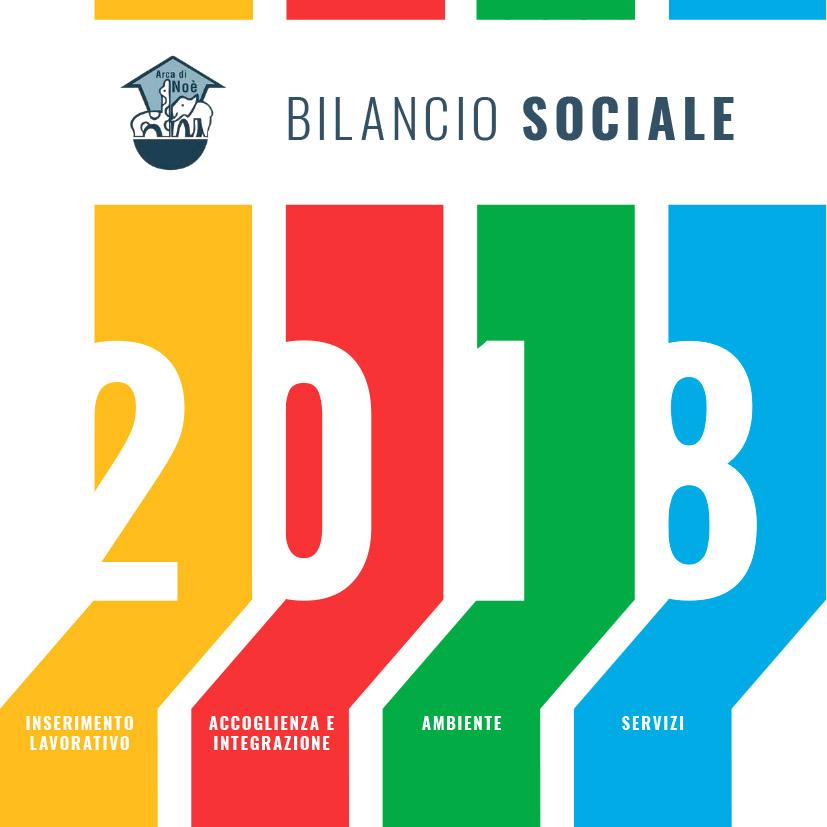 Copertina Bilancio sociale 2018 Arca di Noè