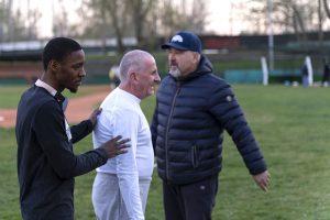 Sainey, Pasquale e l'allenatore Riccardo Matteucci