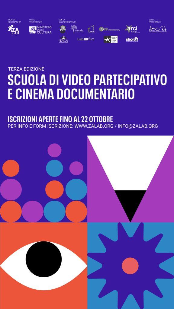 Locandina scuola di video partecipativo 3 edizione